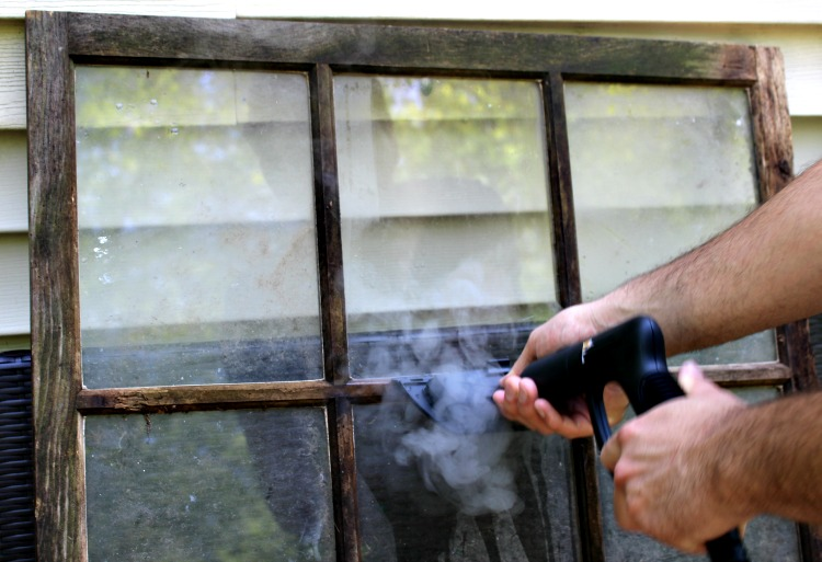 cleaning antique window