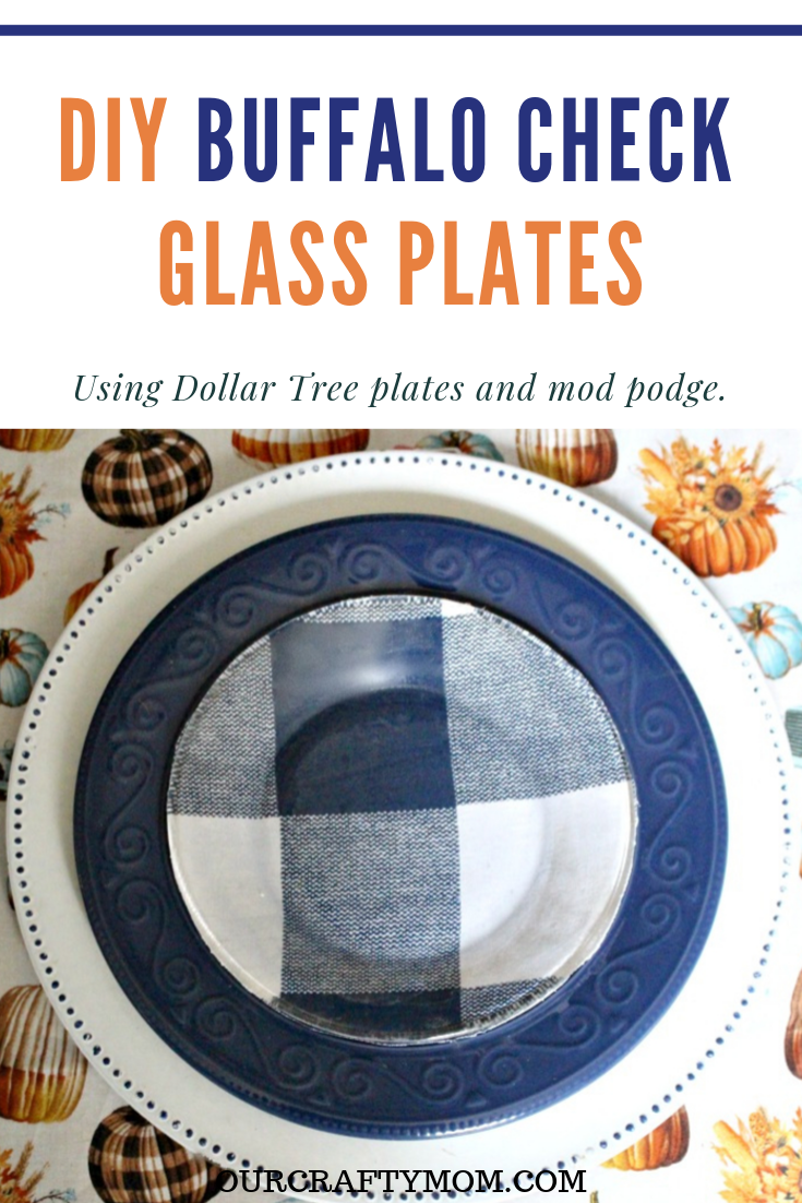 DIY Buffalo Check glass plates