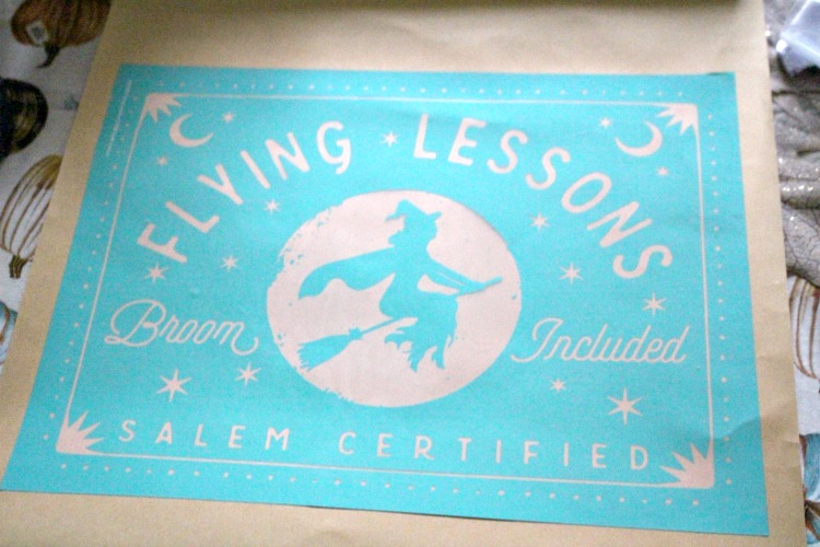 flying lessons transfer on scroll wall hanging