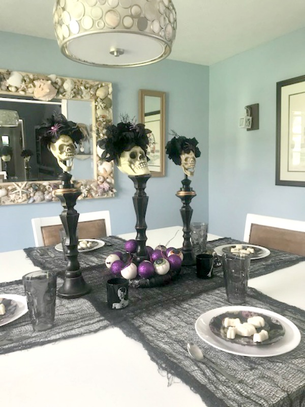 halloween tablescape day of the dead