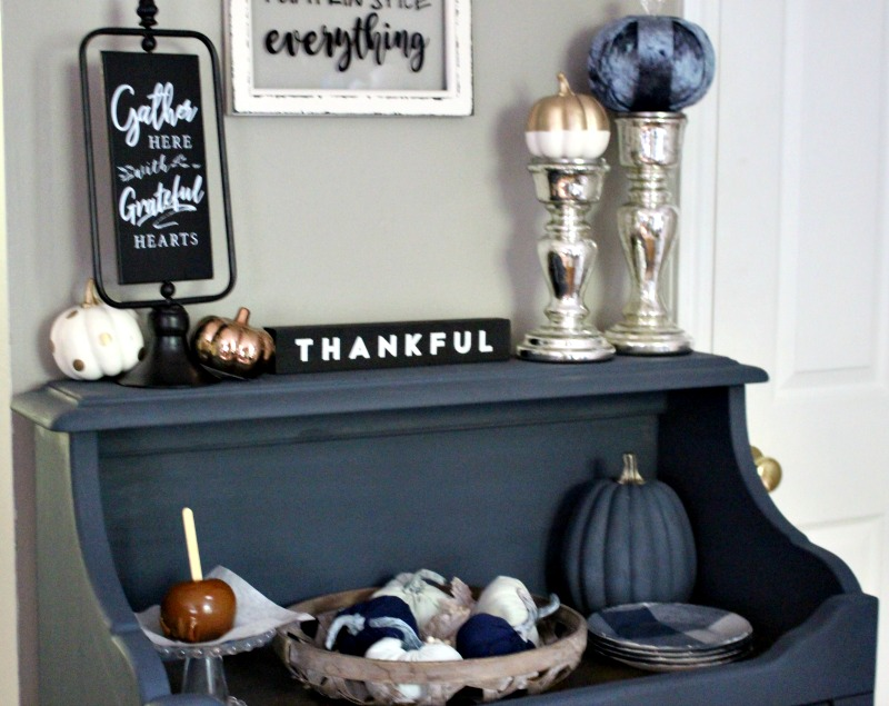 hutch makeover classic navy paint