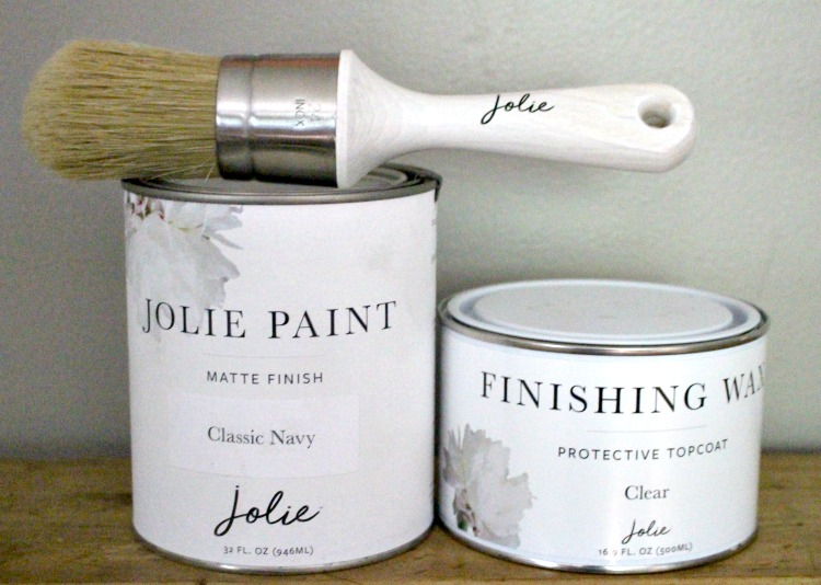 jolie paint with finishing wax and brush