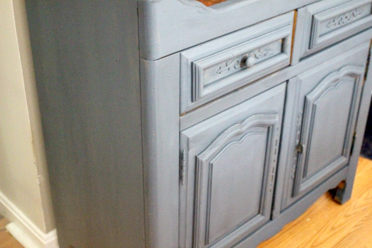 painted sideboard buffet after one coat