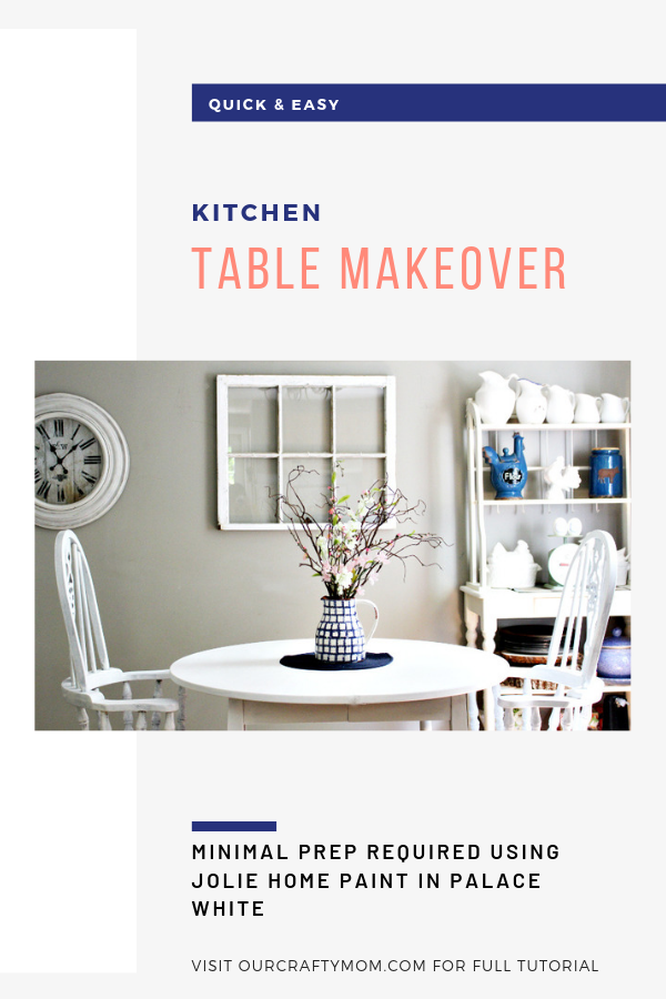kitchen table makeover jolie paint