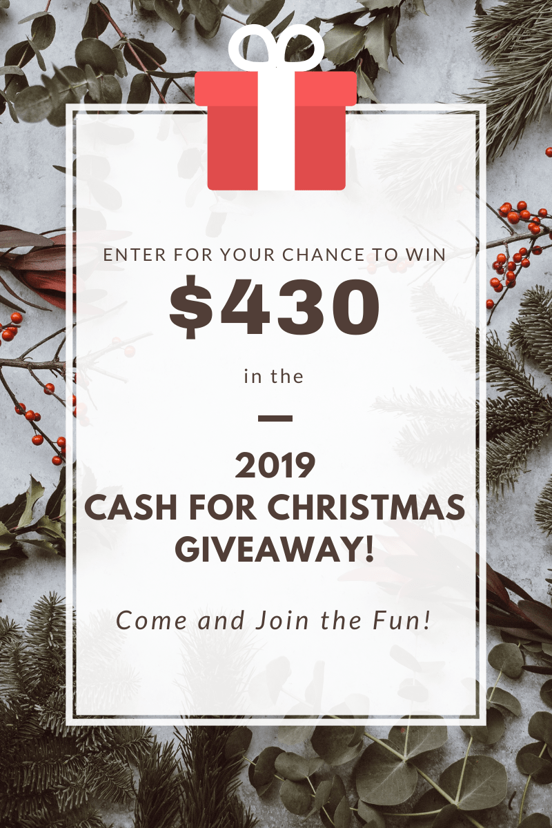 Christmas giveaway pin