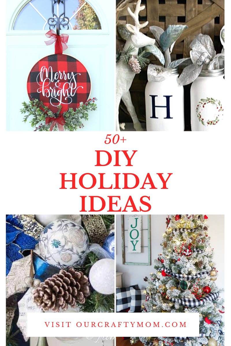50 diy holiday ideas pin image