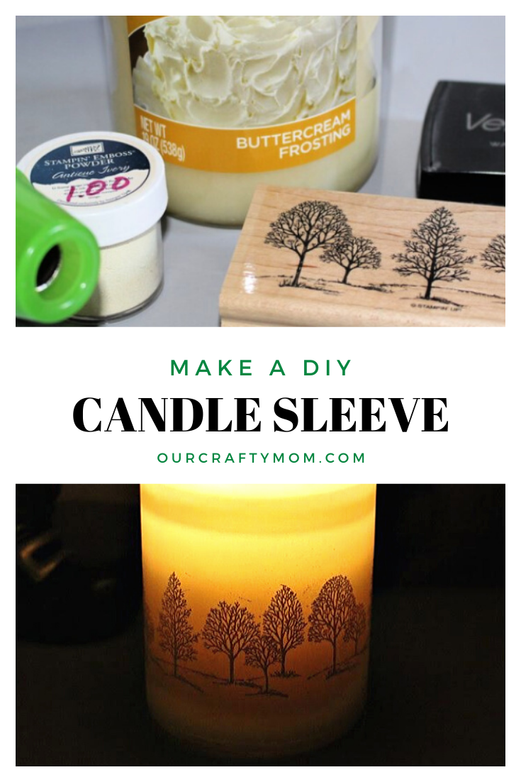 diy candle sleeve pin image
