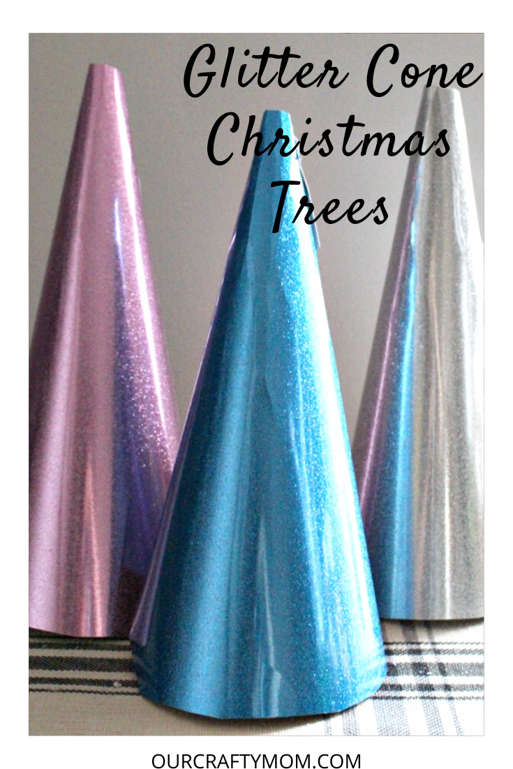 Glitter Cone Christmas Trees