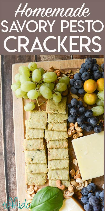 Savory Pesto Shortbread Crackers Recipe
