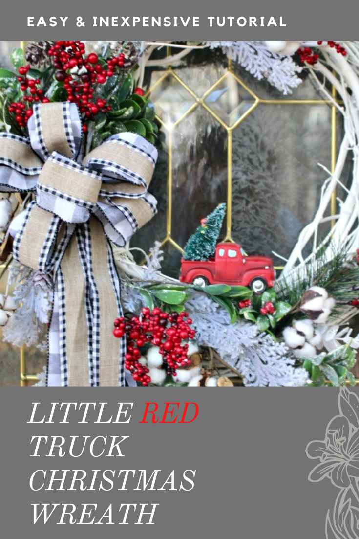 LITTLE RED TRUCK CHRISTMAS WREATH