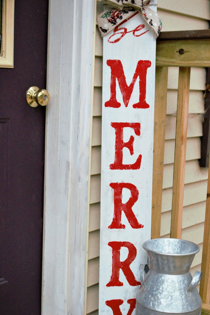 be merry diy christmas sign