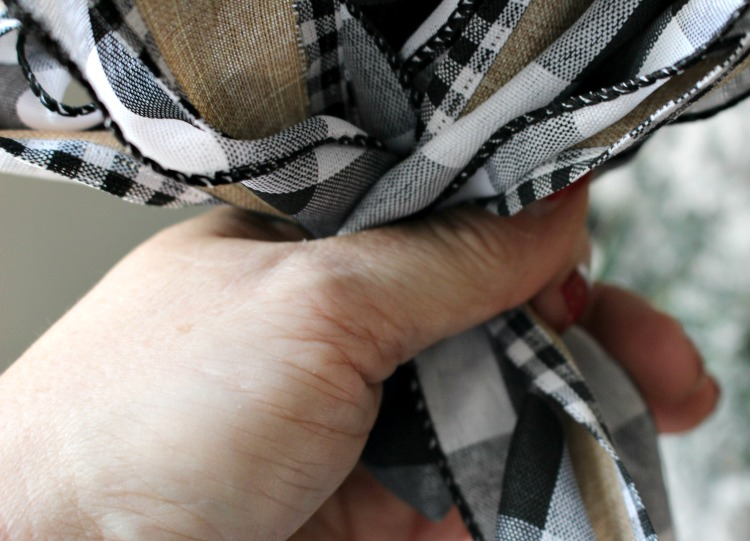 buffalo check diy ribbon