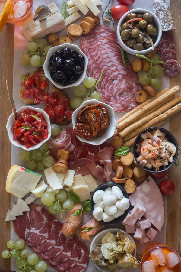 Italian Antipasto Cheese Board