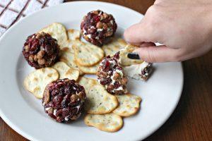 cranberry nut cream cheese balls