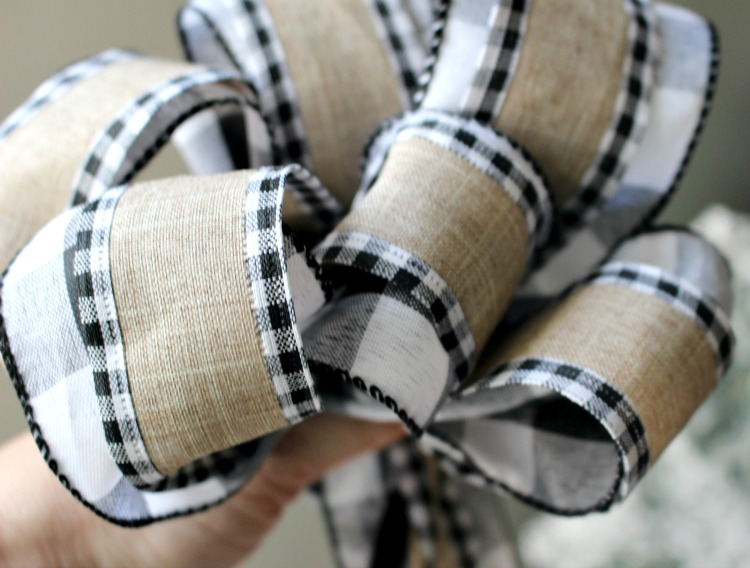diy buffalo check ribbon tutorial