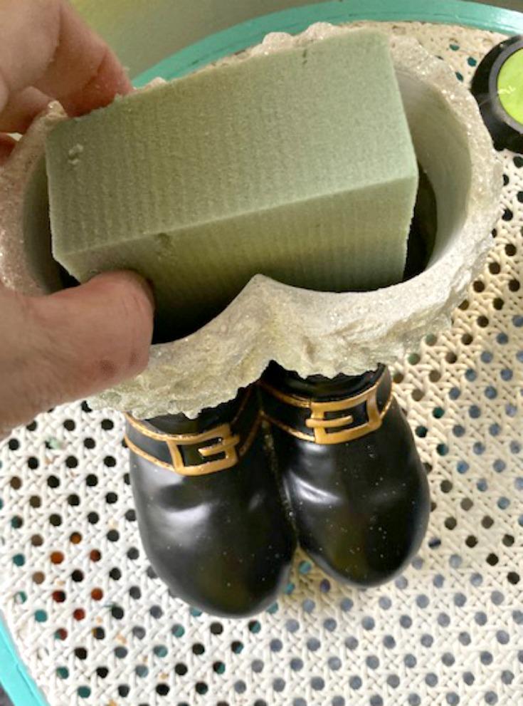 foam inside santa boots