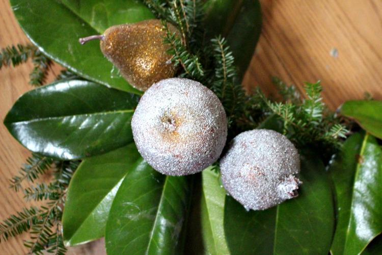 fruit on wreath