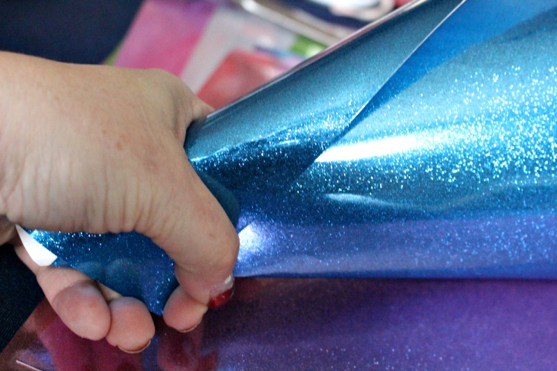 glitter cone being made