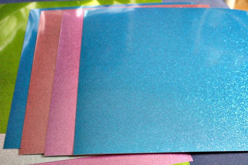 glitter paper by Cricut