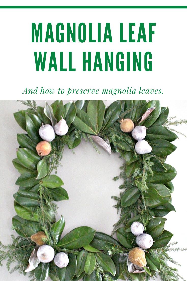 magnolia leaf wall hanging