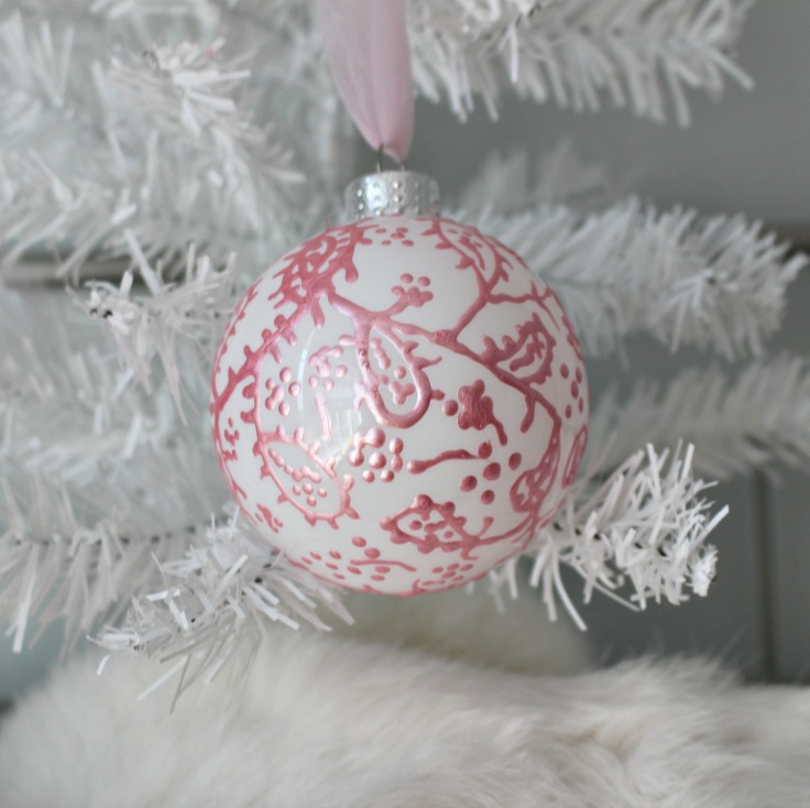 metallic painted christmas ornament