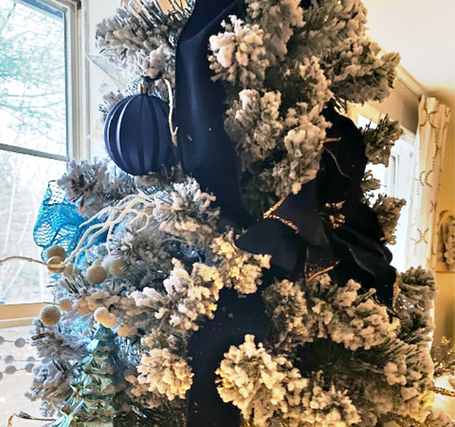 navy tree decorations
