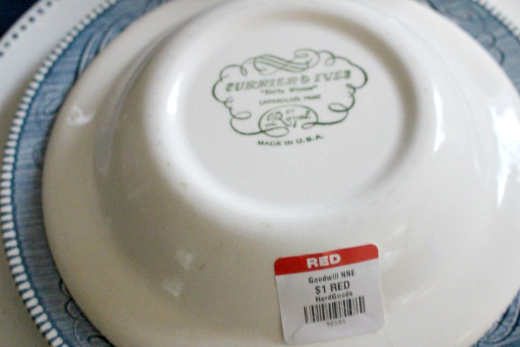 thrift store currier & ives bowls
