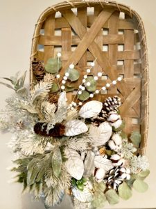 tobacco basket holiday wreath