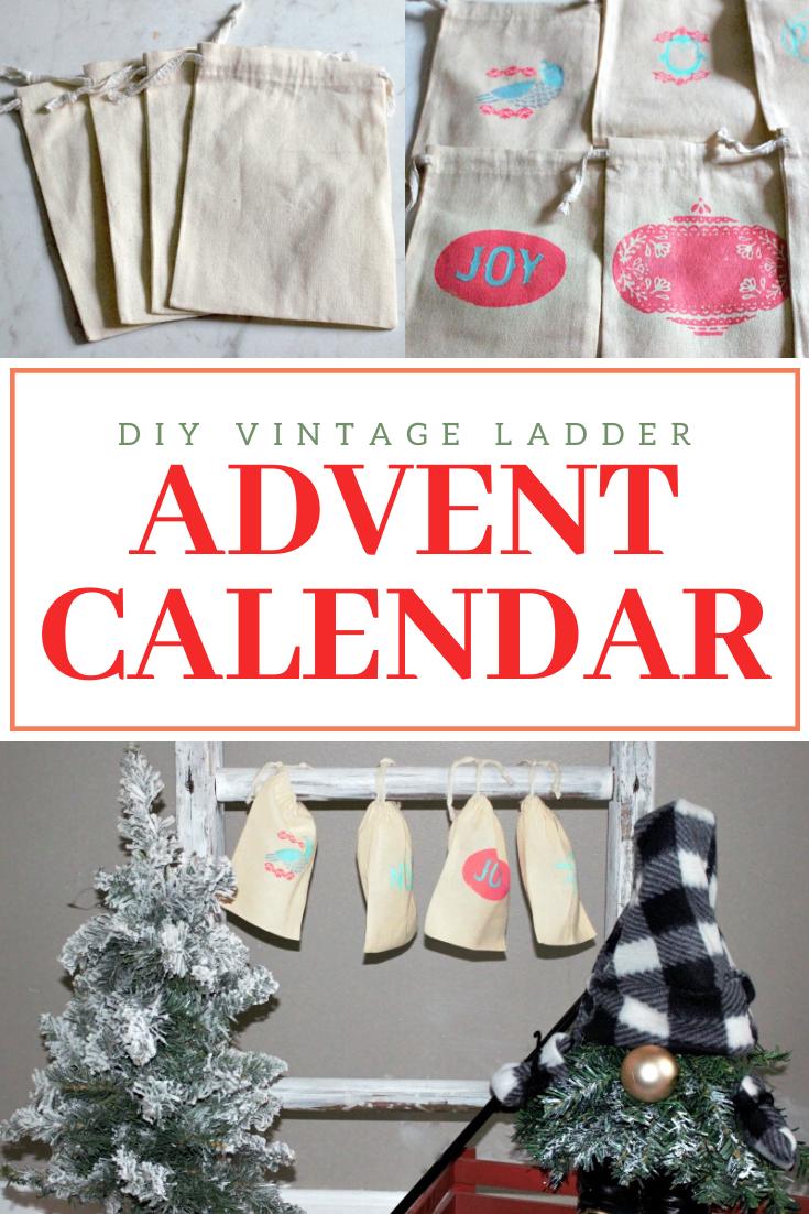 vintage ladder advent calendar
