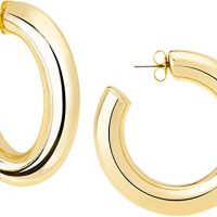 Janis BY Janis Savitt High Polished Large Hoop Earrings