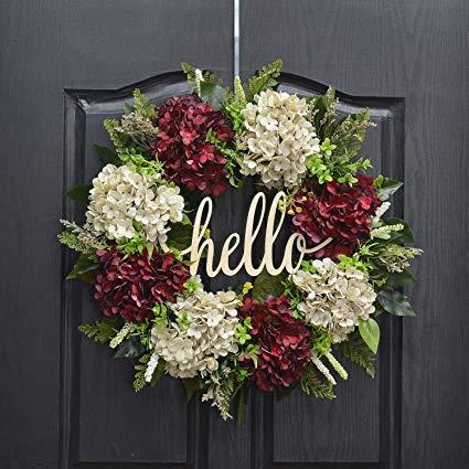 Farmhouse Grapevine Wreath - Light up Wreath