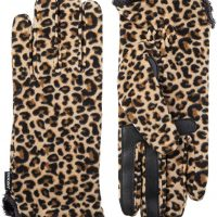 Leopard Print Winter Gloves