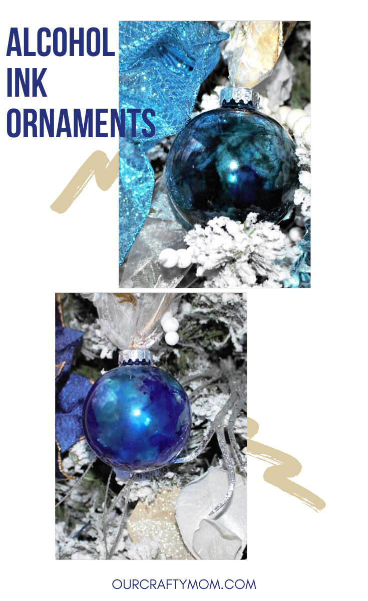 alcohol ink ornaments pin image