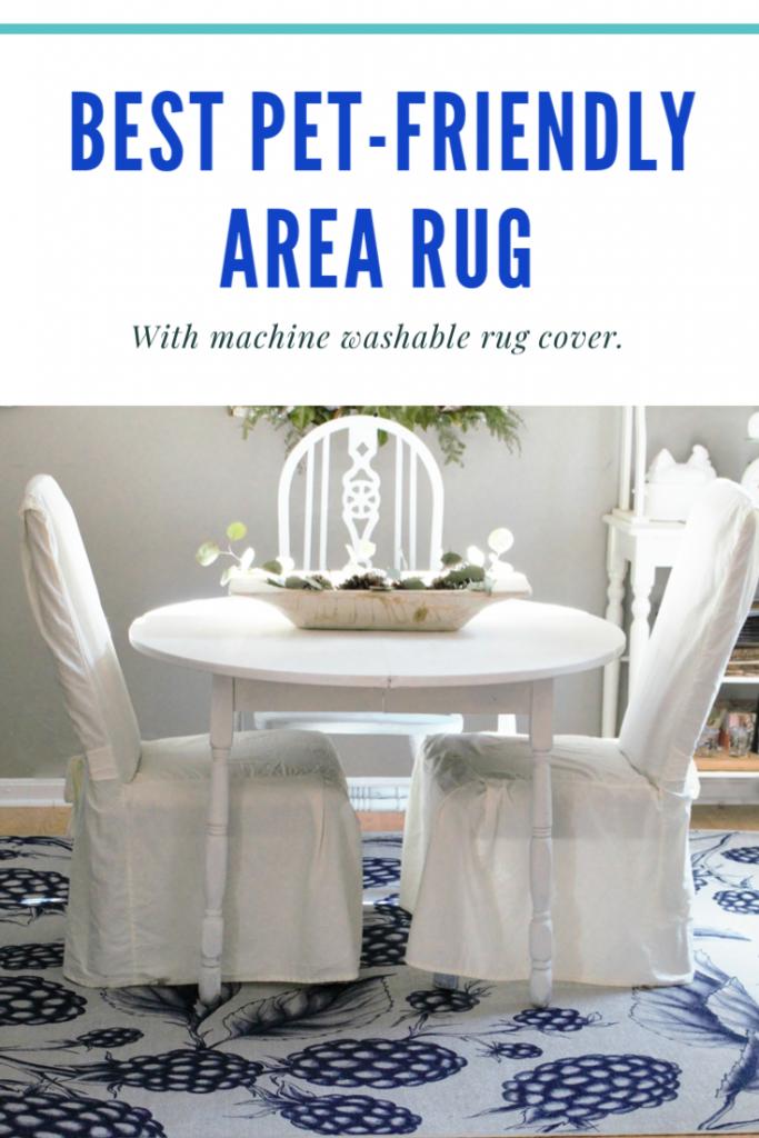 Pet friendly area rug