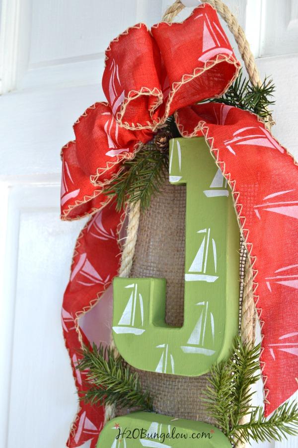 Nautical Sailboat Christmas Wreath
