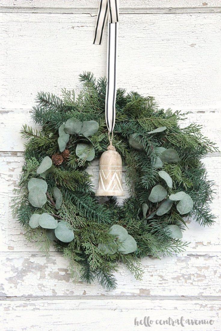 DIY Faux Winter Eucalyptus Wreath