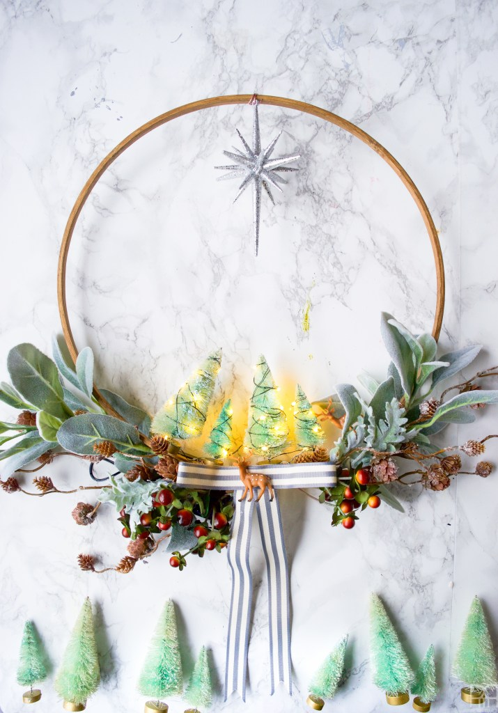 DIY Minty & Cool Holiday Wreath