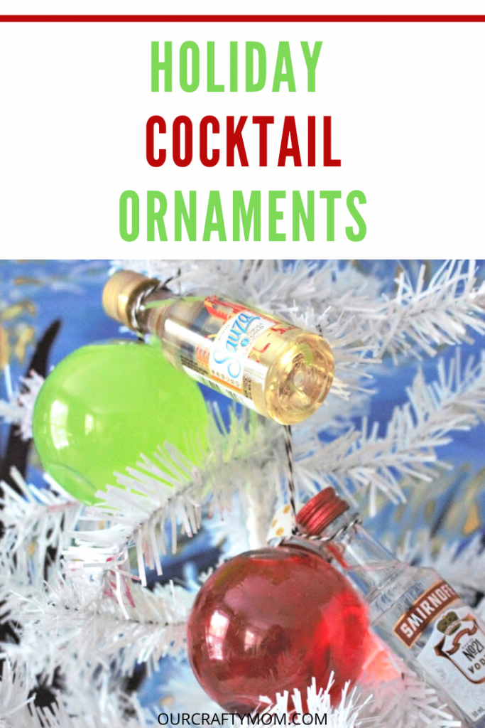 Holiday cocktail ornaments