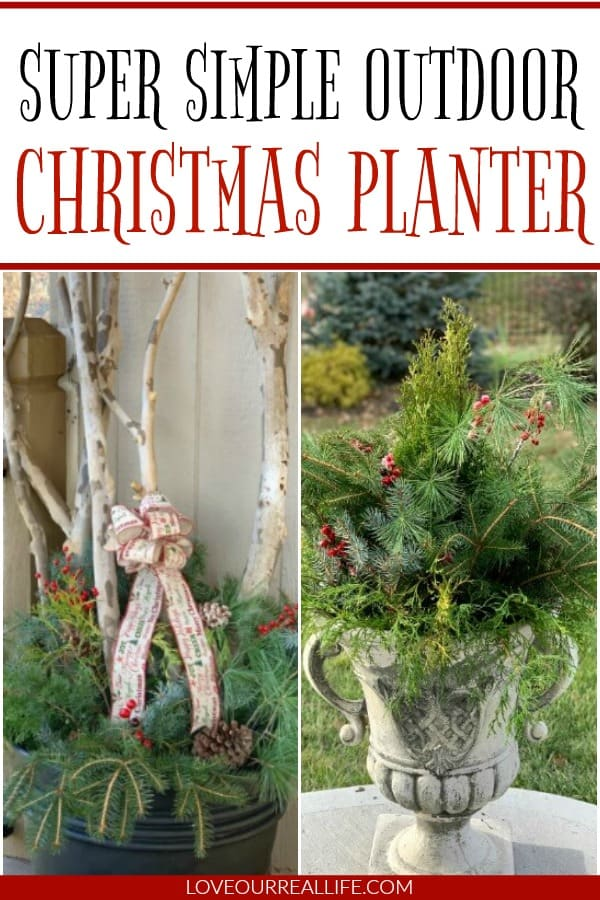 Winter Planter Ideas / Christmas Decorations for the Outdoors ⋆ Love Our Real Life