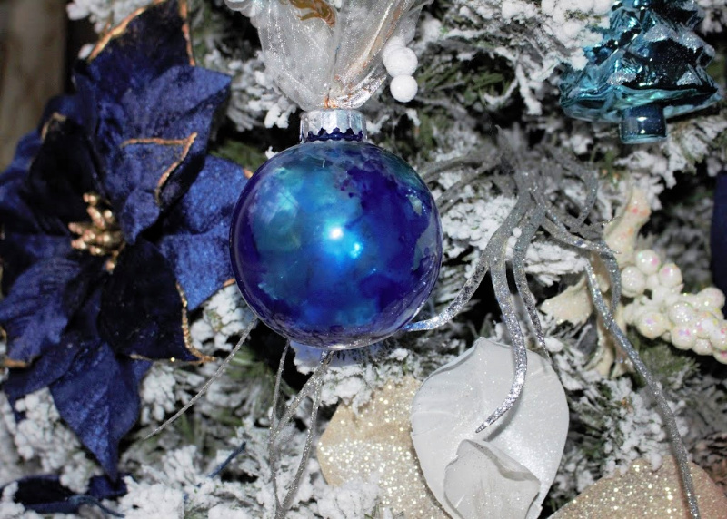alcohol ink ornaments
