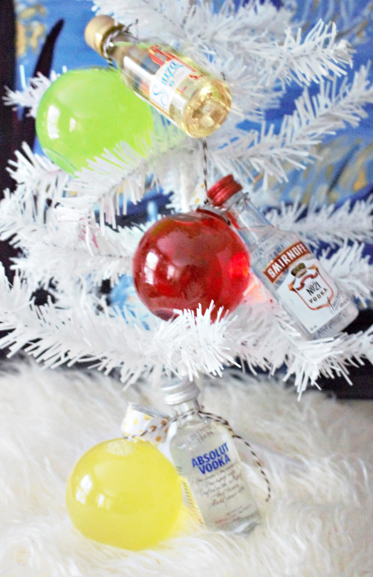 holiday ornament cocktails