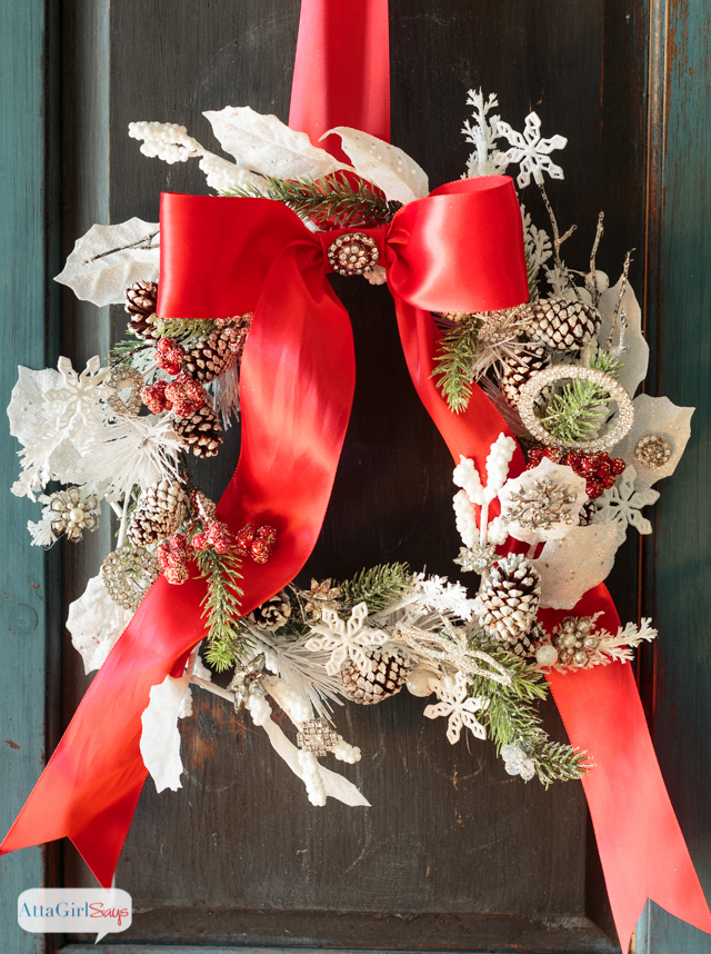 Jeweled Christmas Wreath
