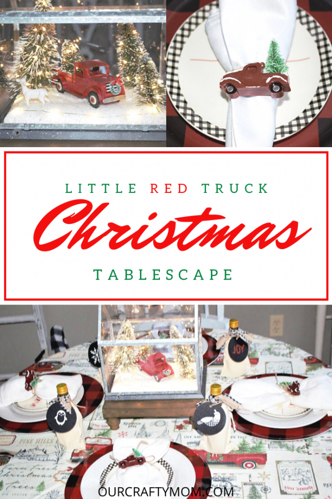 little red truck table