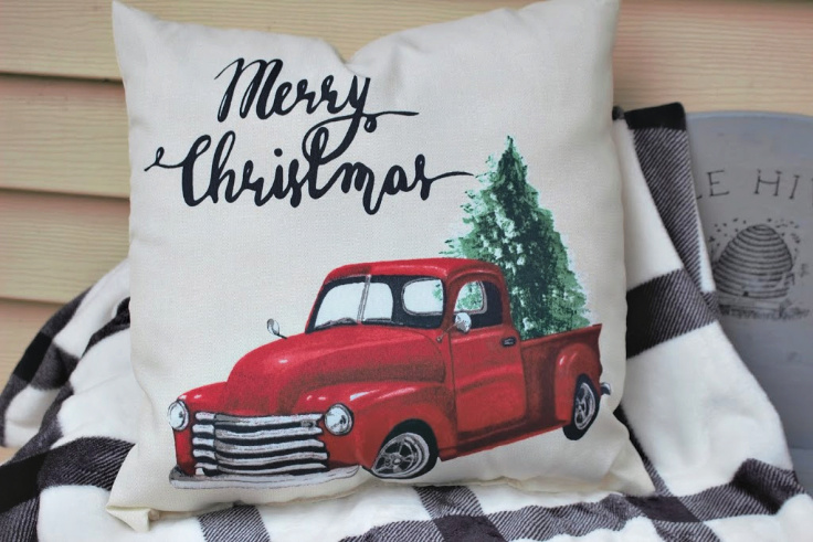 Little Red Truck Christmas Decor For Your Front Porch