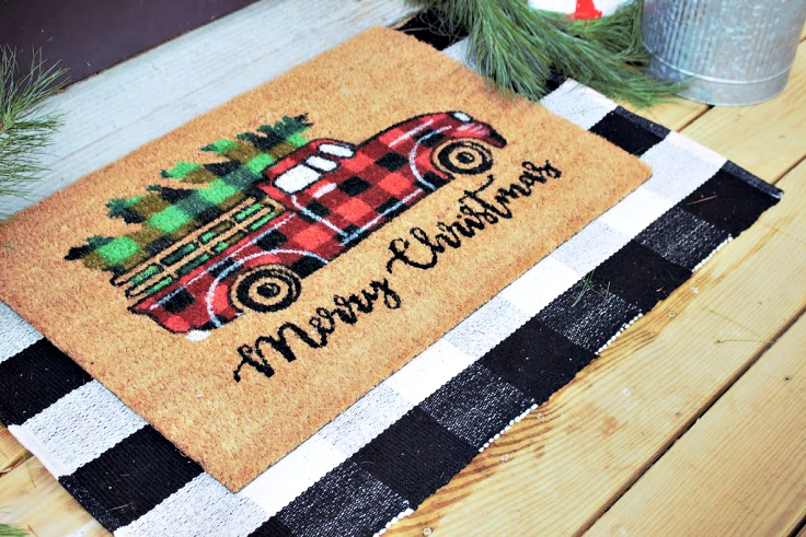 red truck rug