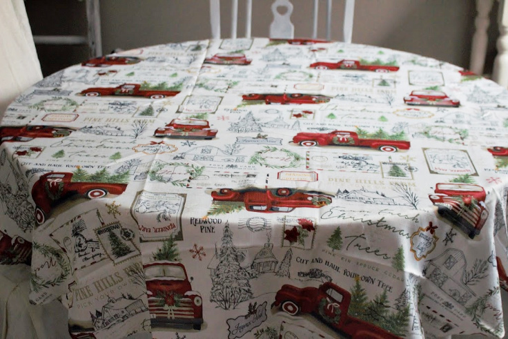 red truck tablescape