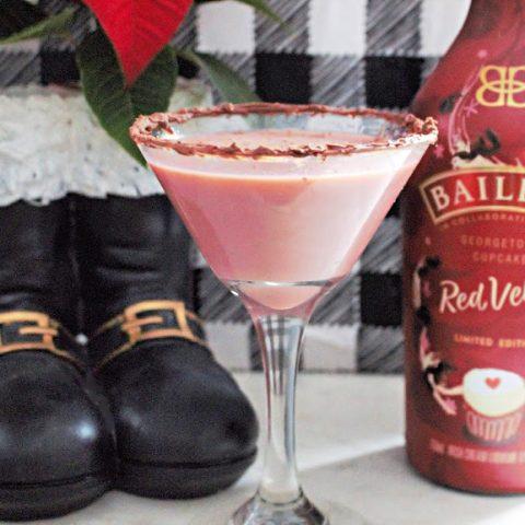 red velvet cupcake chocolate martini