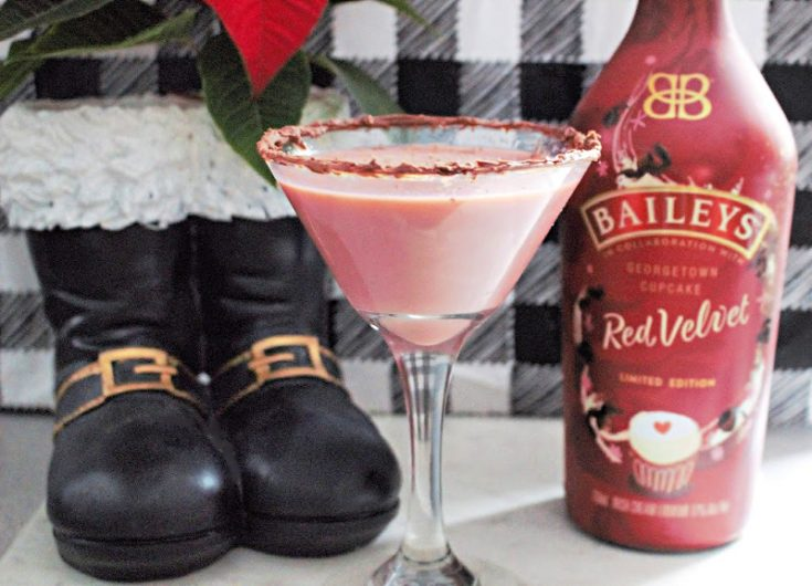Make An Amazing Bailey's Red Velvet Cupcake Chocolate Martini