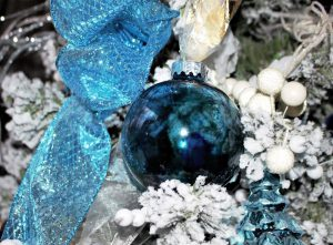 teal alcohol ink ornaments