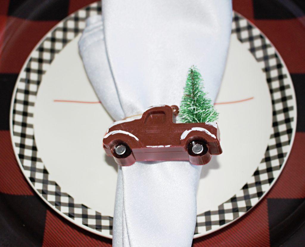 truck napkin ring